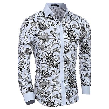 52381342f56 levne Pánské košile-Pánské - Květinový Košile