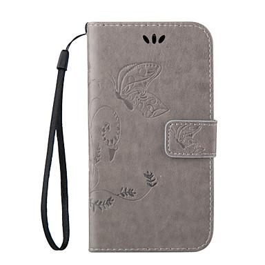 Mert Samsung Galaxy tok Kártyatartó / Állvánnyal / Flip / Dombornyomott / Mágneses Case Teljes védelem Case Pillangó Műbőr Samsung