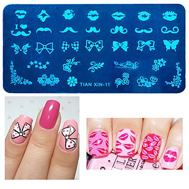 1pcs Placa de Carimbar Estiloso / Fashion Nail Art Design Design Moderno Diário
