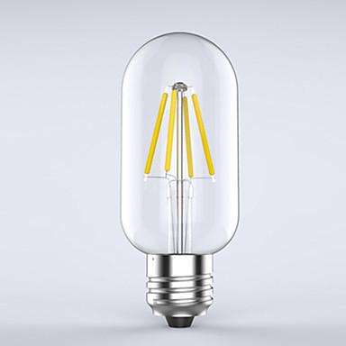 E26/E27 LED필라멘트 전구 T 4 LED가 COB 방수 장식 따뜻한 화이트 400lm 2700K AC 220-240V