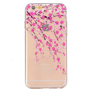 Para iPhone 6 iPhone 6 Plus Case Tampa Estampada Com Relevo Capa Traseira Capinha Flor Macia PUT para iPhone 6s Plus iPhone 6 Plus iPhone