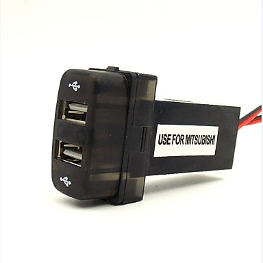 2.1a 2xUSB uso especial tomada de interface para Mitsubishi com lâmpada indicando