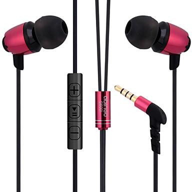 abingo s600i fones de ouvido estilo fones de ouvido de metal ergonómicos com microfone& controle remoto para smartphone