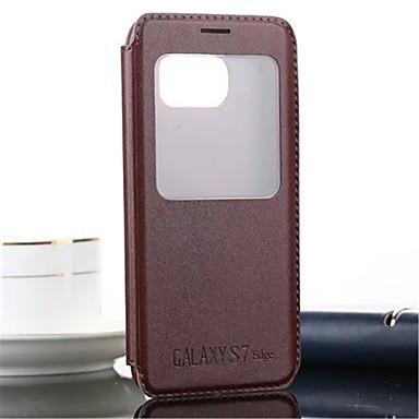 Original View Window Case PU Leather Flip Case For Galaxy S7 edge/S7/S6 edge plus/S6/S6 edge/S5/S4/S3/S5 mini/S4mini