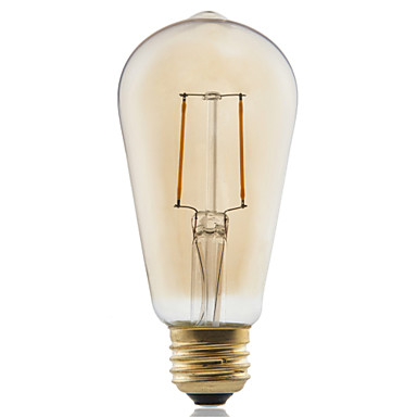 1db ≥180 lm E26/E27 Izzószálas LED lámpák ST58 2 led COB Dekoratív Meleg fehér AC 220-240V