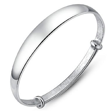 Mulheres Bracelete Prata Chapeada Jóias Casamento