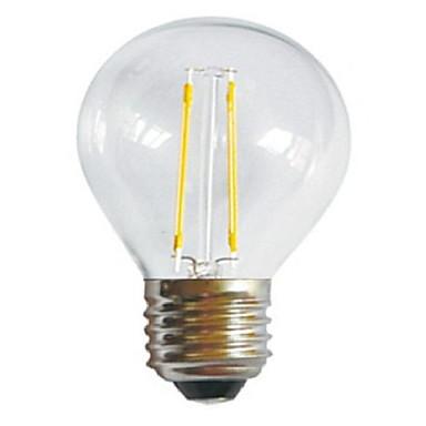 E26/E27 Izzószálas LED lámpák A60(A19) 2 Nagyteljesítményű LED 250LM lm Meleg fehér Hideg fehér Dekoratív AC 220-240 V 1 db.