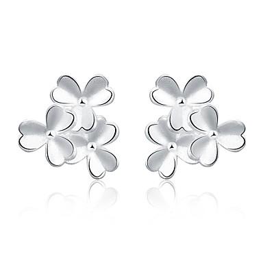Dames Verzilverd Oorknopjes Clip oorbellen - Modieus Europees Zilver oorbellen Voor Bruiloft Feest Dagelijks Causaal