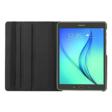 용 삼성 갤럭시 케이스 스탠드 / 플립 / 360°회전 케이스 풀 바디 케이스 단색 인조 가죽 Samsung Tab S2 9.7