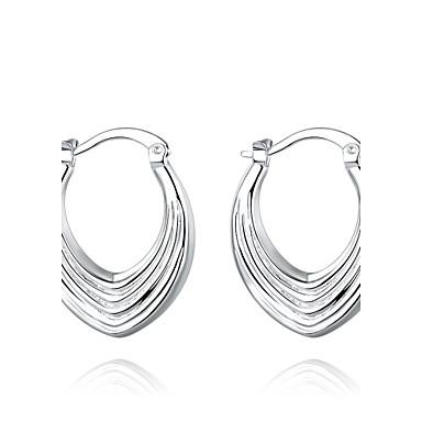 Oorknopjes Clip oorbellen PERSGepersonaliseerd Koper Verzilverd Cirkelvorm Geometrische vorm Zilver Sieraden VoorBruiloft Feest Dagelijks