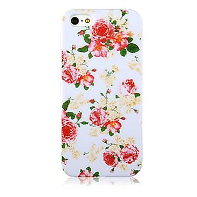 Capinha Para Apple Capinha iPhone 5 Estampada Capa traseira Flor Macia TPU para iPhone X iPhone 8 Plus iPhone 8 iPhone 7 Plus iPhone 7