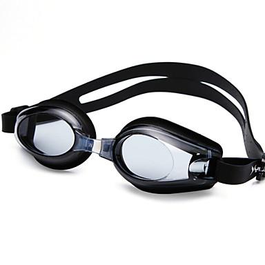 Óculos de Natação Anti-Nevoeiro Tamanho Ajustável Proteção UV Prova-de-Água silica Gel PC Preto Azul Transparente