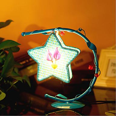 kreatív pentagram lámpa hálószoba éjjeli lámpa világító lámpák európai romantikus személyiség ajándék (vegyes szín)