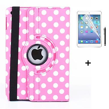 케이스 제품 iPad Air 2 스탠드 자동 슬립 / 웨이크 기능 오리가미 360°회전 전체 바디 케이스 타일 PU 가죽 용 iPad Air 2
