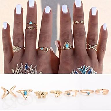 Mulheres Maxi anel Anéis para Falanges Amor Personalizado Estilo Punk bijuterias Liga Formato de Cruz Formato Animal Triangular Âncora
