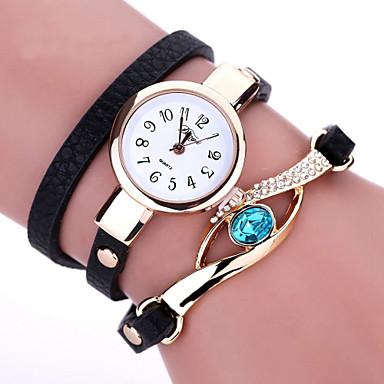 Mulheres Simulado Diamante Relógio Bracele Relógio Relógio de Moda Quartzo imitação de diamante PU Banda Boêmio Preta Branco Azul Marrom