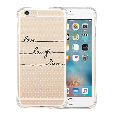 케이스 커버 용 iPhone 6 Plus iPhone 6 뒷면 커버 충격방지 투명 패턴 단어 / 문구 소프트 실리콘 iPhone 6s Plus iPhone 6 Plus iPhone 6s iPhone 6 용
