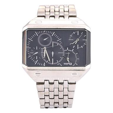 저렴한 남성용 시계-남성용 손목 시계 석영 스테인레스 스틸 실버 / 골드 쓰리 타임 존 아날로그 참 - 골드 / 블랙 실버 / 블랙 화이트 / 실버 2 년 배터리 수명 / SOXEY SR626SW