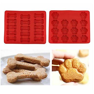Bakeware eszközök Szilikon Környezetbarát / DIY Jég / Csokoládé / Keksz sütőformát 2db