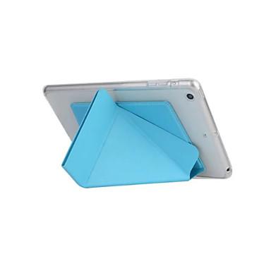 Kompatibilitás tokok Automatikus készenlét / ébresztés Origami Teljes védelem Case Tömör szín Kemény Műbőr Bőr mert Apple iPad iPad Air