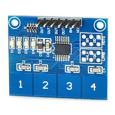capacitivo módulo de interruptor de toque sensor de toque digital de ttp224 4-way para arduino