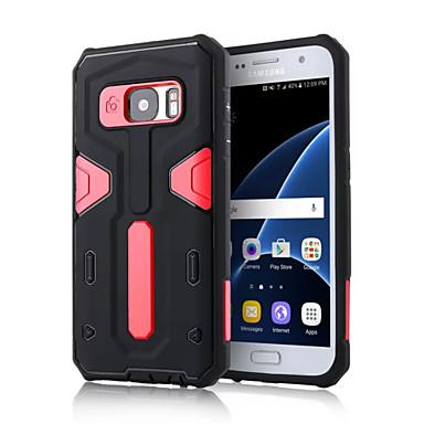 Para Samsung Galaxy S7 Edge Antichoque / Com Suporte Capinha Capa Traseira Capinha Armadura PC SamsungS7 edge / S7 / S6 edge plus / S6