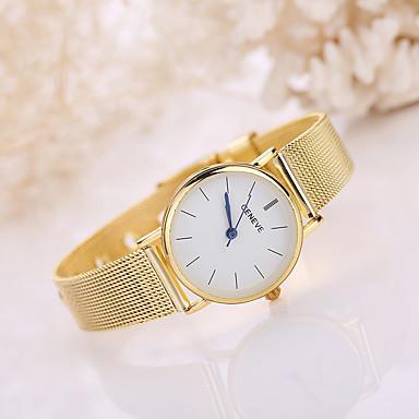저렴한 남성용 시계-남성용 여성용 손목 시계 석영 스테인레스 스틸 실버 / 골드 캐쥬얼 시계 아날로그 보헤미안 패션 - 실버 골든
