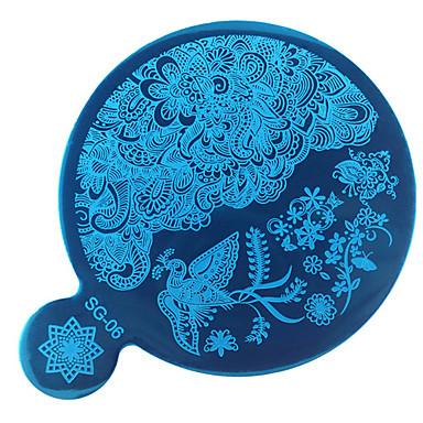 1 bélyegzés Plate Köröm pecsételő eszköz Köröm pecsételő sablon Napi Divat Jó minőség