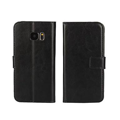 Mert Samsung Galaxy tok Kártyatartó / Pénztárca / Állvánnyal / Flip Case Teljes védelem Case Egyszínű Műbőr SamsungS7 edge / S7 / S6 edge
