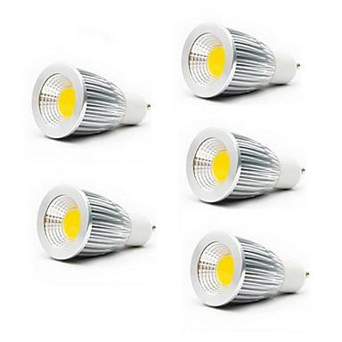 5pcs 5 W Spoturi LED 3000/6500 lm GU10 GU5.3(MR16) E26 / E27 MR16 1 LED-uri de margele COB Alb Cald Alb Rece 85-265 V / 5 bc / RoHs / CCC