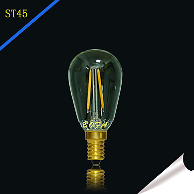 2 W 2200/2700 lm E14 / E12 LED Globe Bulbs Tube 2 LED Beads COB Dimmable / Decorative Warm White 220-240 V / 110-130 V / 1 pc