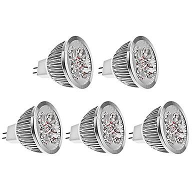 5pcs 4 W 450 lm LED Spot Işıkları 4 LED Boncuklar Yüksek Güçlü LED Sıcak Beyaz 12 V / 5 parça