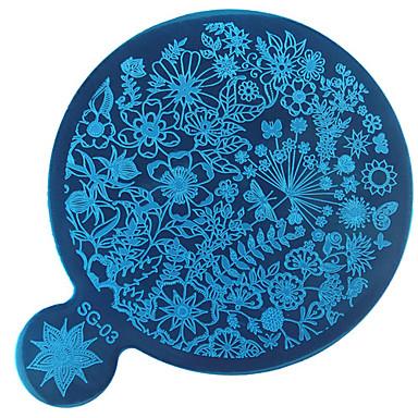 1 bélyegzés Plate Köröm pecsételő sablon Napi Divat Jó minőség