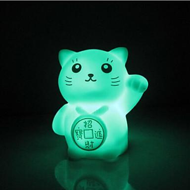 kreatív színváltó romantikus ajándék Maneki neko színes led éjszakai fény