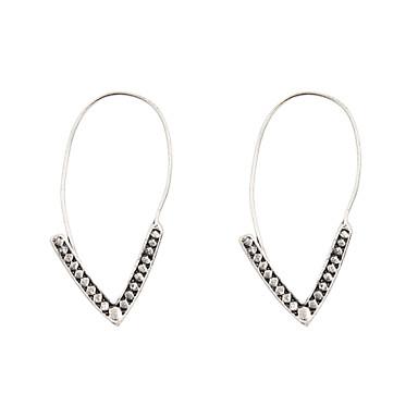 Női Függők - Ezüst Aranyozott V alakúak Fülbevaló Kompatibilitás Esküvő Parti Napi