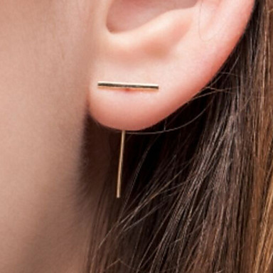 여성용 스터드 귀걸이 - 유럽의, 미니멀 스타일, 패션 골드 / 실버 제품 파티 / 일상 / 캐쥬얼