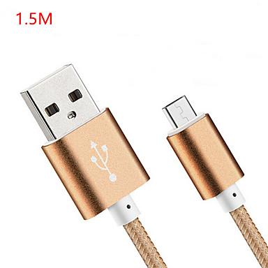 USB 2.0 Адаптер USB-кабеля Нормальная Кабель Назначение Huawei LG Nokia Lenovo Xiaomi Motorola HTC Sony 150 cm Нейлон