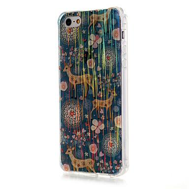 Mert iPhone 5 tok Minta Case Hátlap Case Állat Puha TPU iPhone SE/5s/5