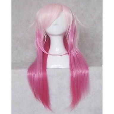 Συνθετικές Περούκες Ίσιο Πυκνότητα Γυναικεία Ροζ κοστούμι περούκα 20χιλ Μακρύ Συνθετικά μαλλιά