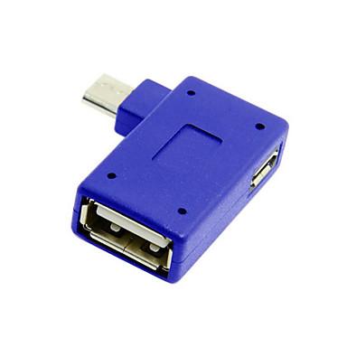 휴대폰 태블릿의 USB 전원 cwxuan®은 90도 마이크로 USB 2.0 OTG 호스트 어댑터