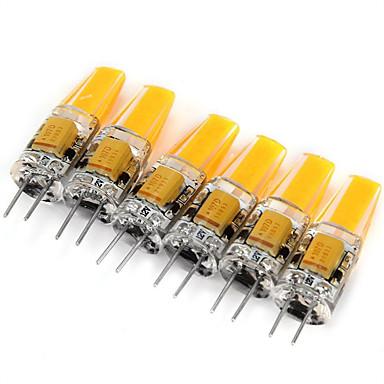 6pcs 2W 200 lm G4 LED à Double Broches MR11 1 diodes électroluminescentes COB Décorative Blanc Chaud Blanc Froid AC 12V DC 12V