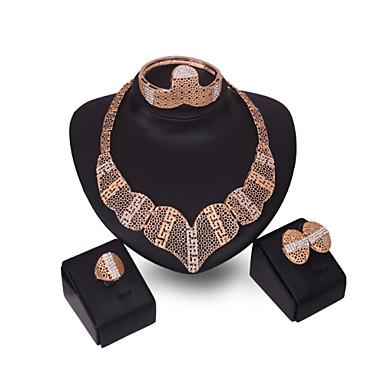 للمرأة مجموعة مجوهرات حجر الراين مخصص موضة euramerican في حجر الراين سبيكة أخرى الحلقات 1 قلادة 1 زوج من الأقراط سوار من أجل مناسبة خاصة