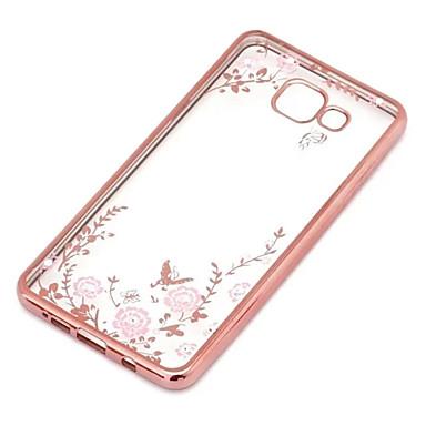 voordelige Galaxy J-serie hoesjes / covers-hoesje Voor Samsung Galaxy J7 / J5 (2016) / J5 Transparant Achterkant Bloem TPU