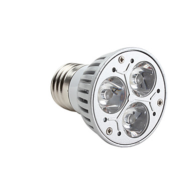 3000lm GU10 E26 / E27 LED Spotlight MR16 3 LED Beads High Power LED Dimmable Warm White 220-240V