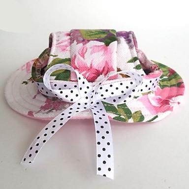 Gato Cachorro Bandanas & Chapéus Roupas para Cães Férias Casual Casamento Flôr Rosa claro Ocasiões Especiais Para animais de estimação