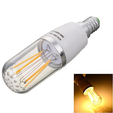 E14 LED필라멘트 전구 T 4 LED COB 장식 따뜻한 화이트 차가운 화이트 2800/6500lm 2800/6500kK AC 85-265V