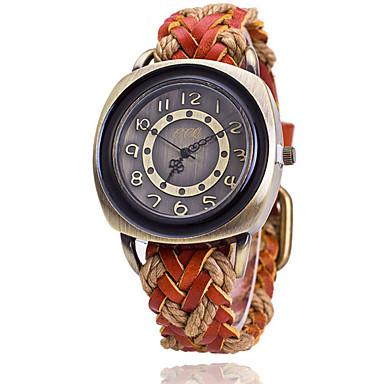 남성용 손목 시계 석영 캐쥬얼 시계 가죽 밴드 블랙 화이트 블루 레드 오렌지 브라운 그린