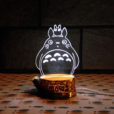 vizuális 3d erőkkel vezetett dekoráció usb asztali lámpa színes ajándék éjszakai fény (vegyes szín)