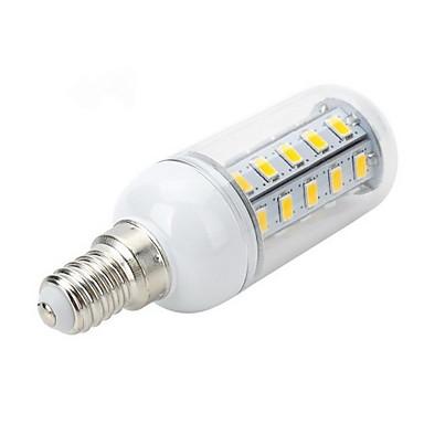 500-600 lm E14 E26/E27 LED Λάμπες Καλαμπόκι T 36 leds SMD 5730 Θερμό Λευκό Ψυχρό Λευκό AC 220-240V