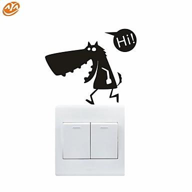 로맨스 / 패션 / 추상 / 판타지 벽 스티커 플레인 월스티커,PVC 12*10cm